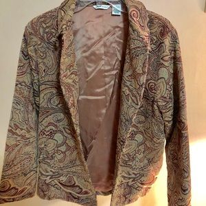 🆕 Laura Ashley Vintage Paisley Blazer Large